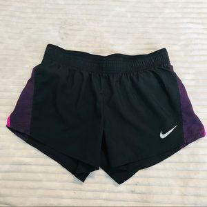 Nike Dri Fit Black Purple Pink Running Shorts Sm